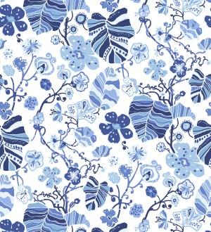 Papel pintado hojas y flores de jardín Candy Park 680597