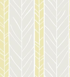 Papel pintado de rayas con dibujo de ramas estilo nórdico Winter Forest 680605