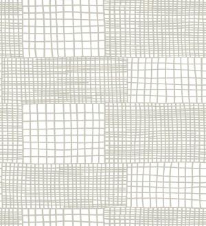 Papel pintado abstracto de lineas y cuadros grises de estilo moderno Gordon Squares 680608