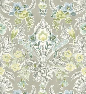 Papel pintado romántico de flores y pájaros estilo inglés Kensington Floral 680647