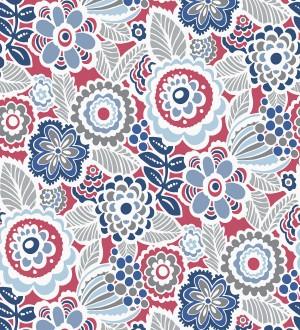 Papel pintado de flores y hojas estilo nórdico Valley Flowers 680653