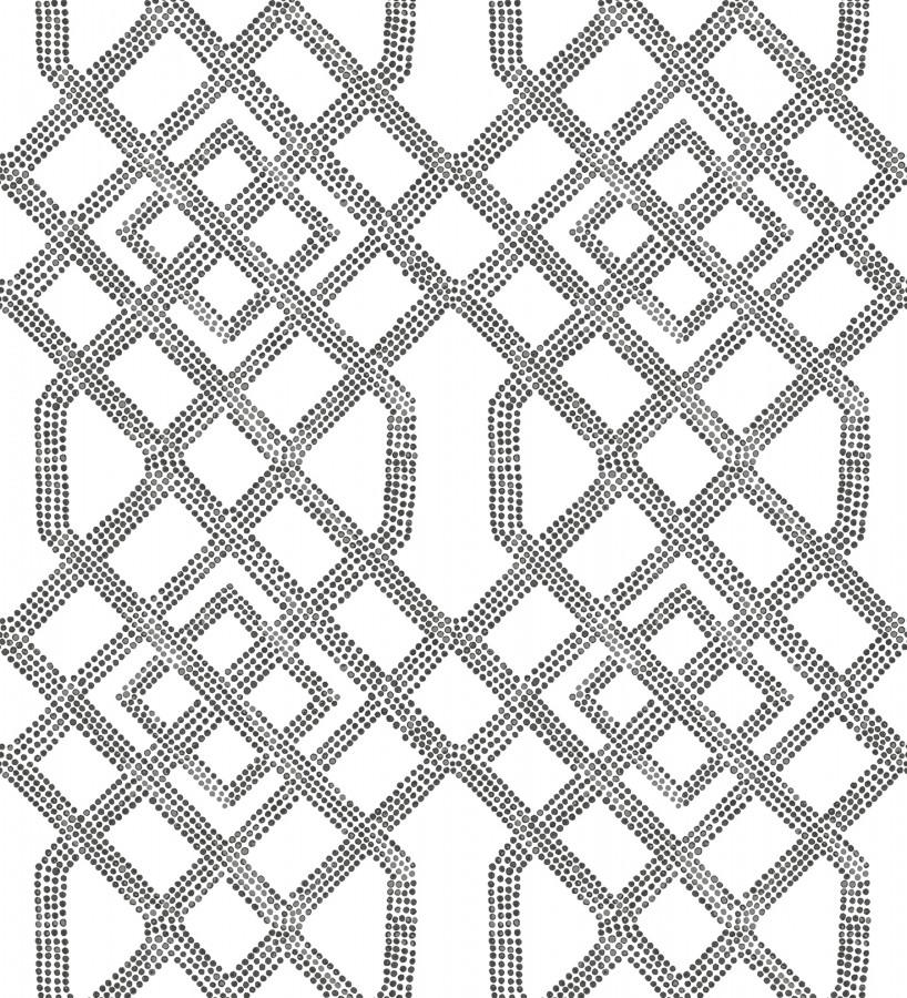 Papel pintado de celosías con dibujo geométrico estilo nórdico Royal Wells 680688
