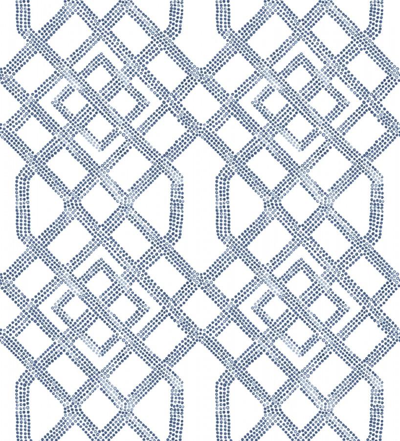 Papel pintado de celosías con dibujo geométrico estilo nórdico Royal Wells 680690
