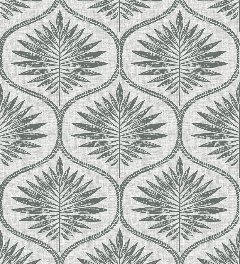 Papel pintado damasco con dibujo de hojas Forest Ornaments 680700