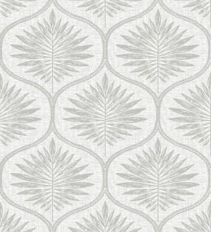 Papel pintado damasco con dibujo de hojas Forest Ornaments 680702