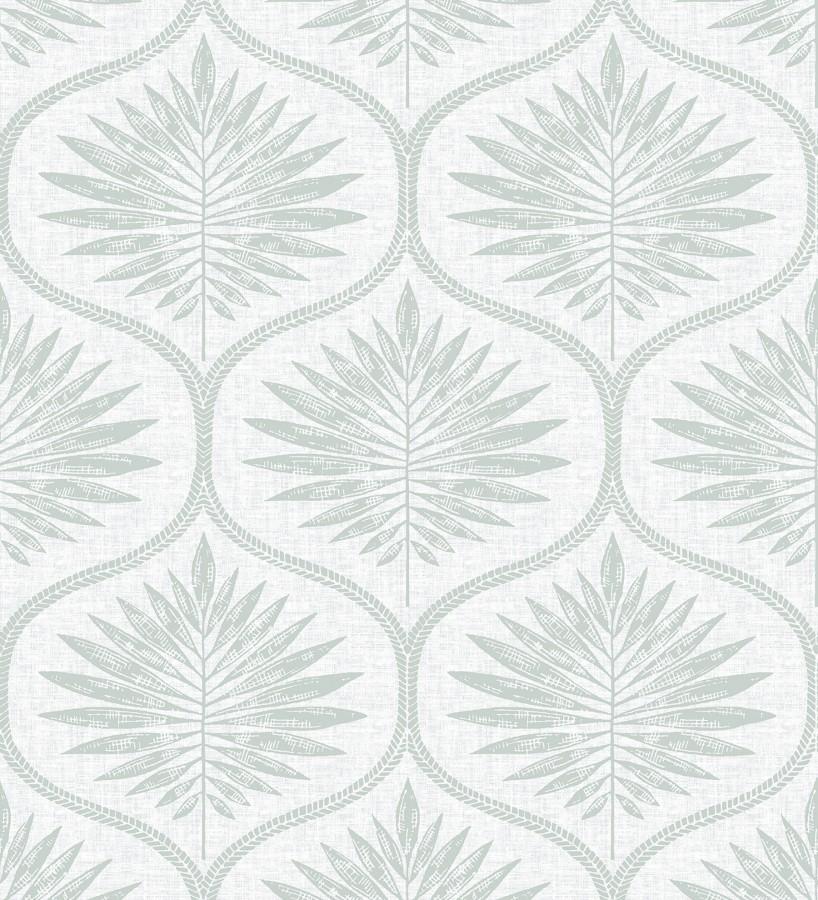 Papel pintado damasco con dibujo de hojas Forest Ornaments 680703