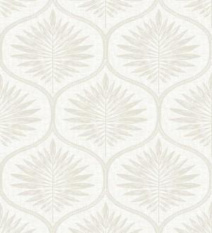 Papel pintado damasco con dibujo de hojas Forest Ornaments 680704