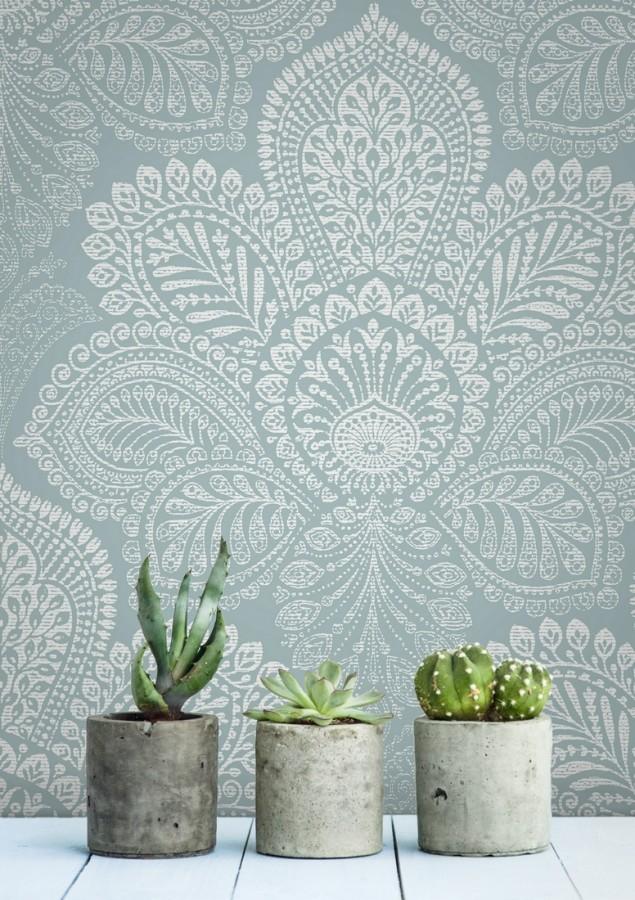 Papel pintado de flores grandes estilo hindú Cardiff Flowers 680713