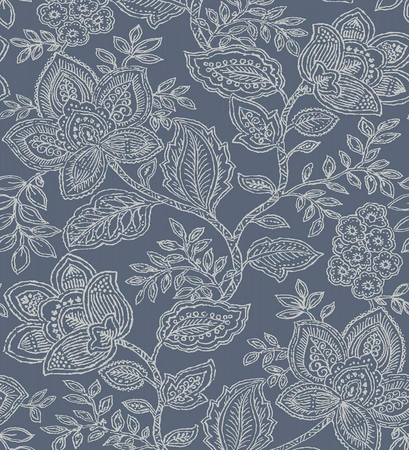 Papel pintado de flores dibujadas con estilo victoriano Victorian Flowers 680716