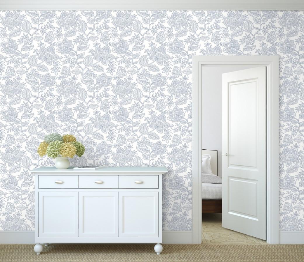 Papel pintado de flores dibujadas con estilo victoriano Victorian Flowers 680717