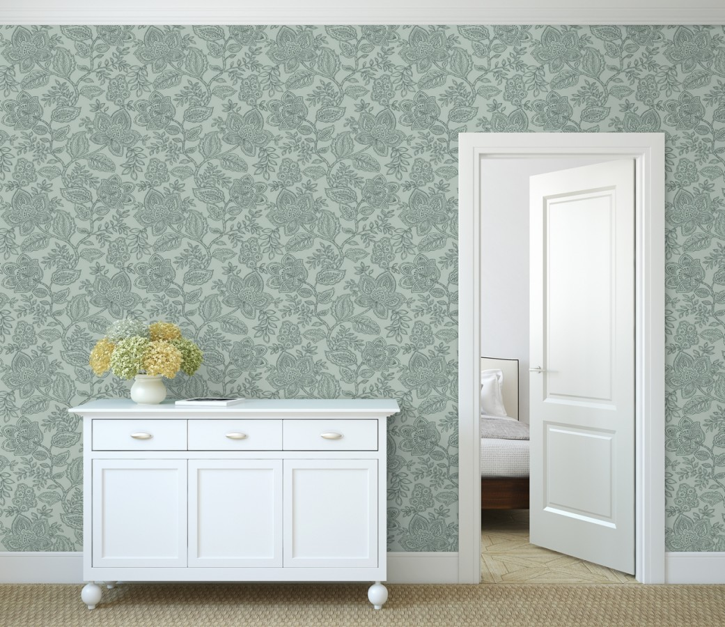 Papel pintado de flores dibujadas con estilo victoriano Victorian Flowers 680719
