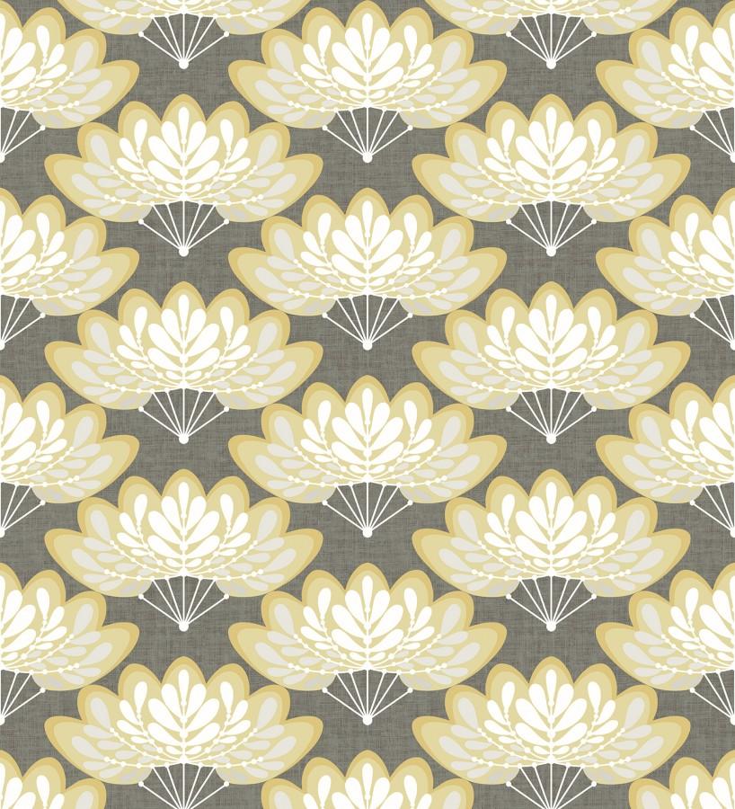 Papel pintado ramilletes de hojas estilo retro Oliver Garden 680736