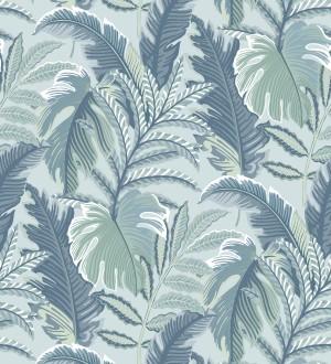 Papel pintado con dibujos de hojas tropicales Palmer Hill 680740