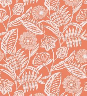 Papel pintado de flores modernas con colores tropicales Beach Garden 680745