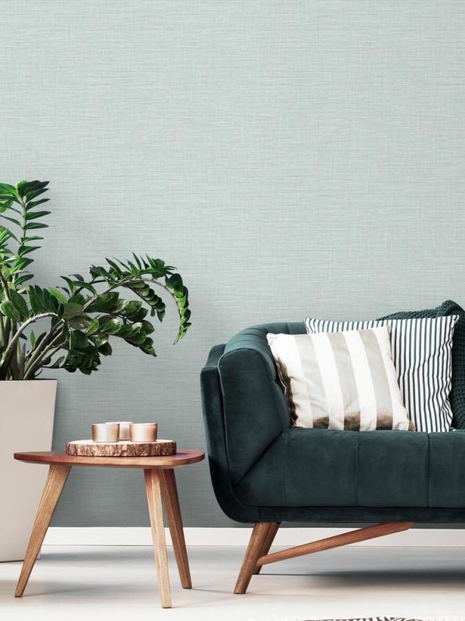 Papel pintado imitación fibra vegetal entretejida con bambú Portland House 680760