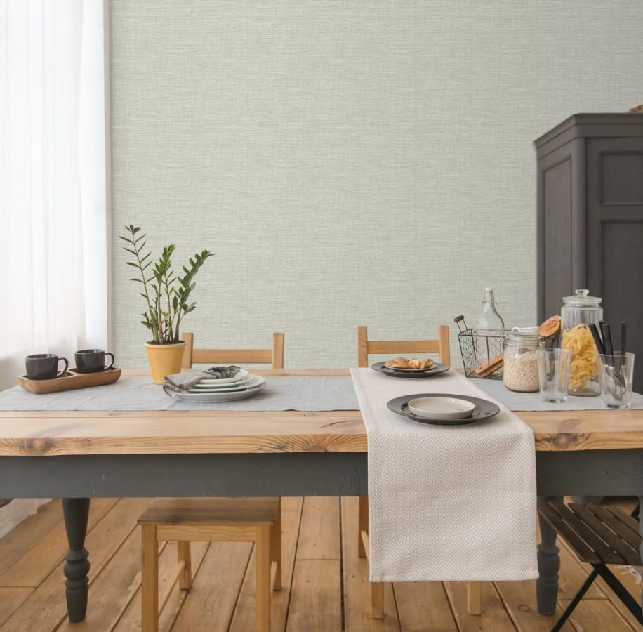 Papel pintado imitación fibra vegetal entretejida con bambú Portland House 680761