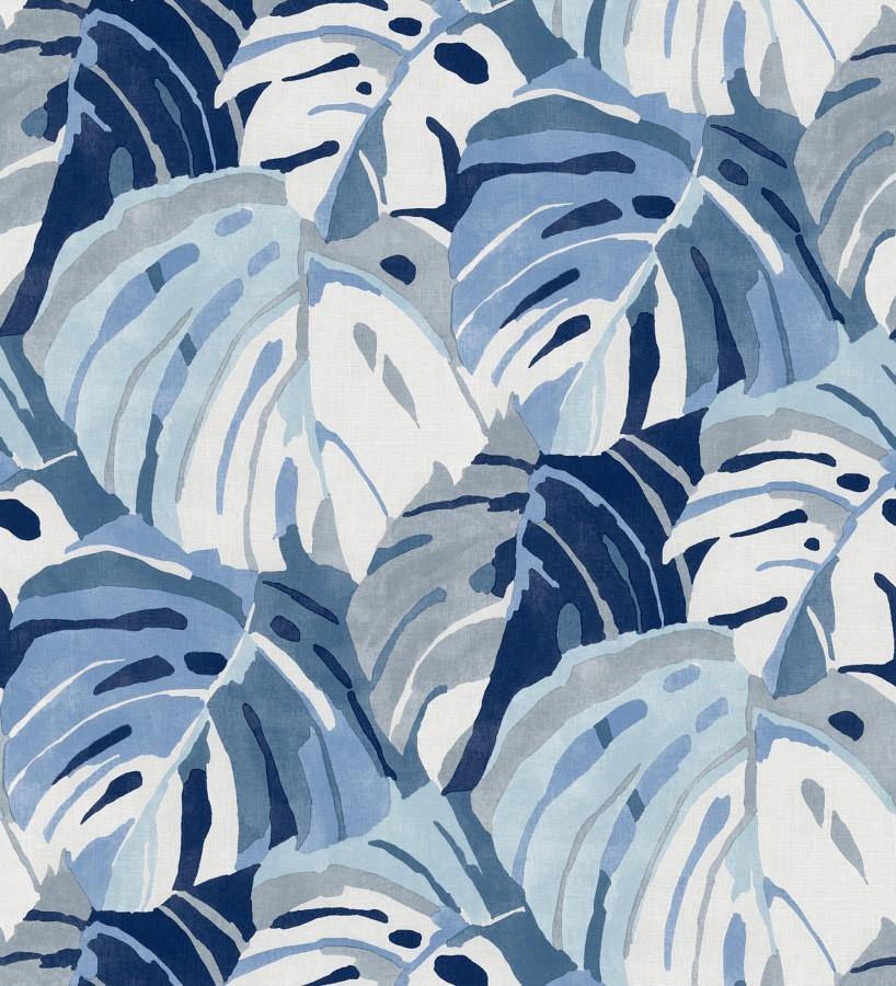 Papel pintado de hojas tropicales grandes estilo pop art Tropical Island 680772