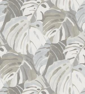 Papel pintado de hojas tropicales grandes estilo pop art Tropical Island 680773