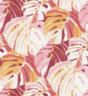 Papel pintado de hojas tropicales grandes estilo pop art Tropical Island 680775