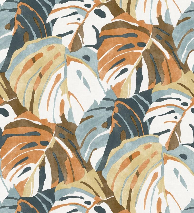 Papel pintado de hojas tropicales grandes estilo pop art Tropical Island 680776