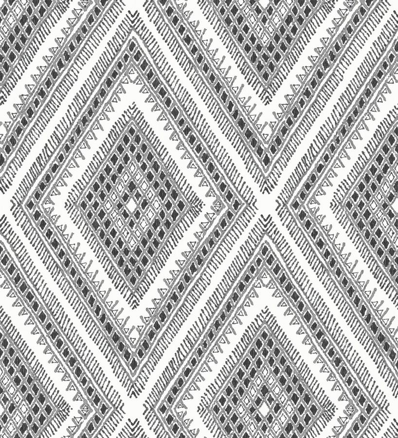 Papel pintado geométrico de rombos estilo boho chic Boho Carpet 680777