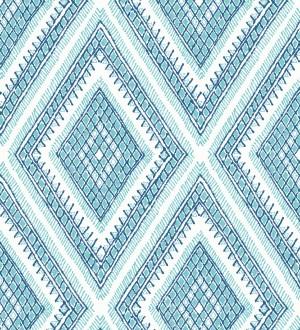 Papel pintado geométrico de rombos estilo boho chic Boho Carpet 680778
