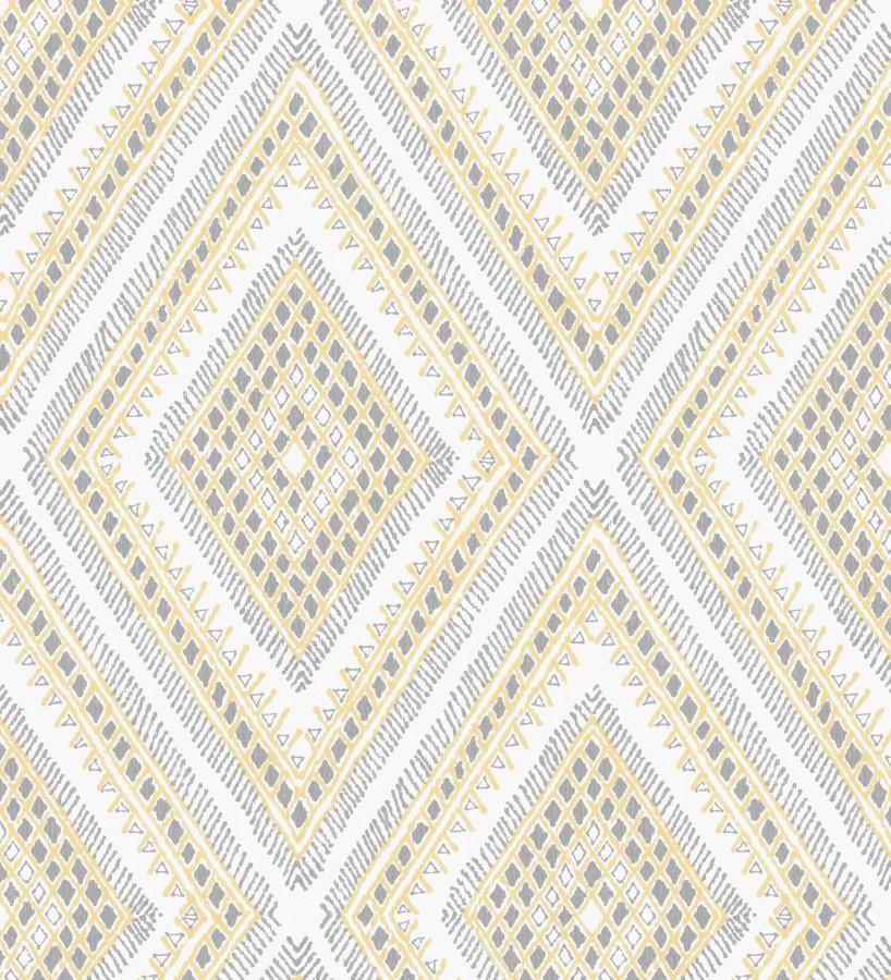Papel pintado geométrico de rombos estilo boho chic Boho Carpet 680779