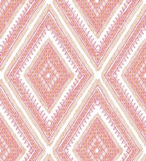 Papel pintado geométrico de rombos estilo boho chic Boho Carpet 680780