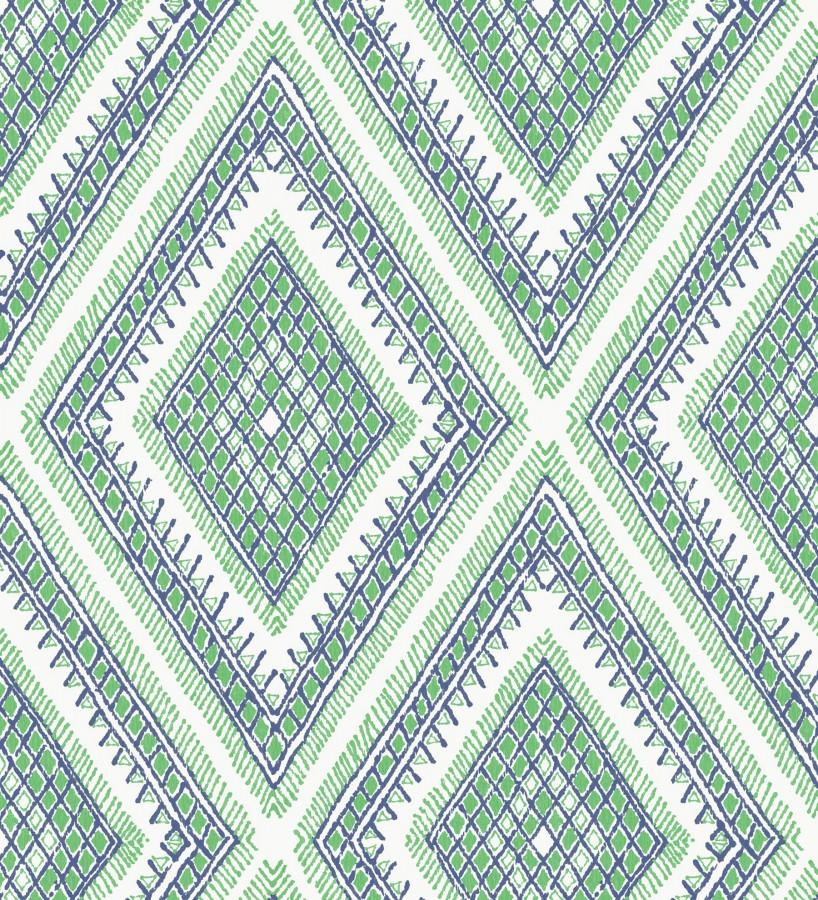 Papel pintado geométrico de rombos estilo boho chic Boho Carpet 680781