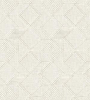 Papel pintado geométrico de cubos estilo boho chic Cubic City 680784