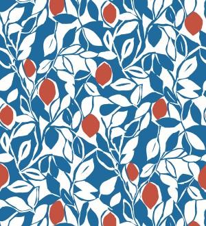 Papel pintado hojas y limones estilo pop art Lemon Garden 680788