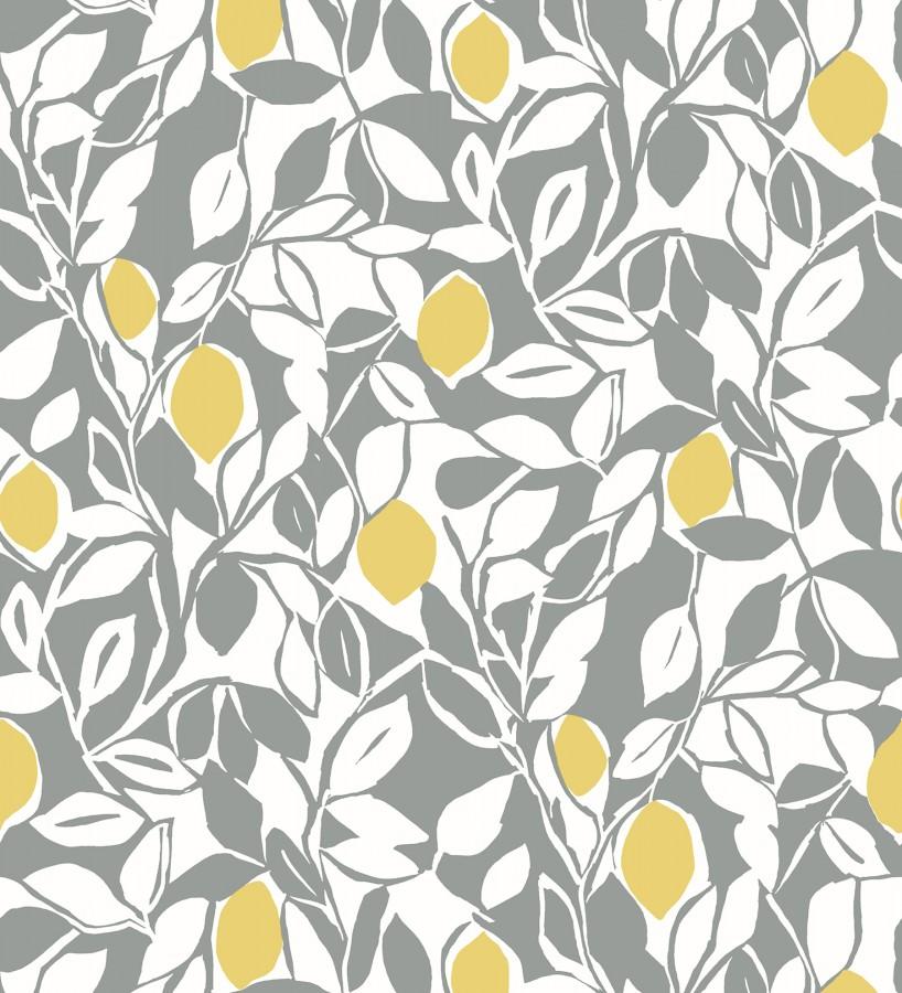 Papel pintado hojas y limones estilo pop art Lemon Garden 680789