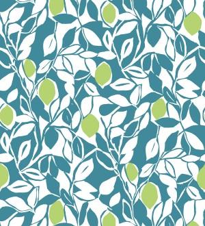Papel pintado hojas y limones estilo pop art Lemon Garden 680790