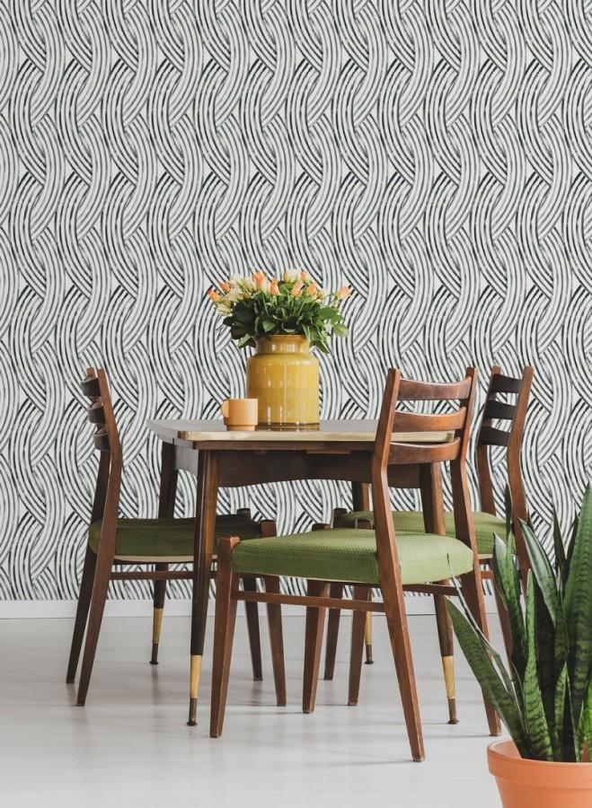Papel pintado trenzado estilo tropical Fancy Chains 680792