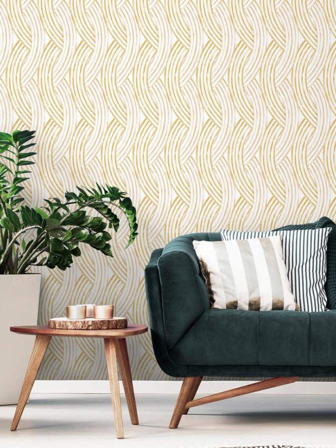 Papel pintado trenzado estilo tropical Fancy Chains 680795