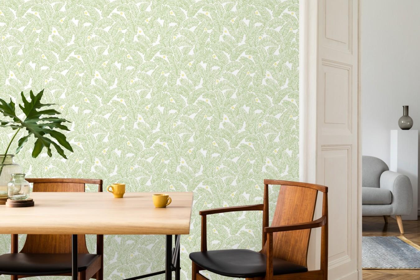 Papel pintado de hojas de pino pequeñas Blossom Forest 680797