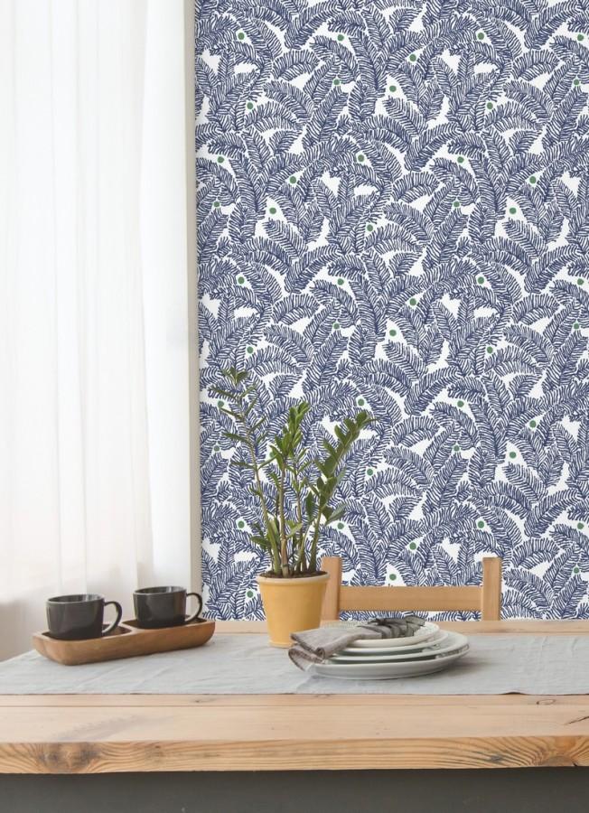 Papel pintado de hojas de pino pequeñas Blossom Forest 680798