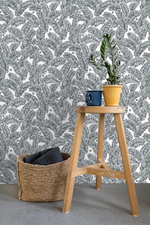 Papel pintado de hojas de pino pequeñas Blossom Forest 680799