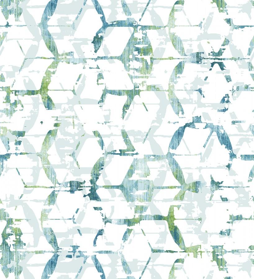Papel pintado geométrico estilo moderno Rings Gallery 680808