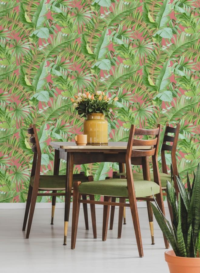 Papel pintado hojas tropicales Indonesia 680819