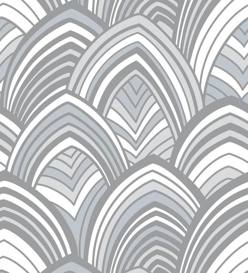 Papel pintado geométrico de arcos de terciopelo Scandi Arches 680824
