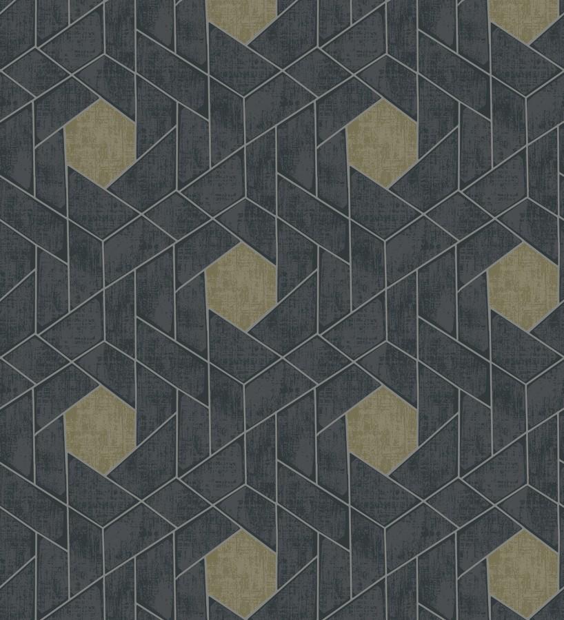 Papel pintado hexágonos geométricos modernos Albert Museum 680826