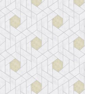 Papel pintado hexágonos geométricos modernos Albert Museum 680827