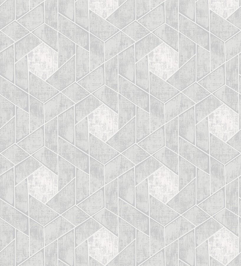 Papel pintado hexágonos geométricos modernos Albert Museum 680828