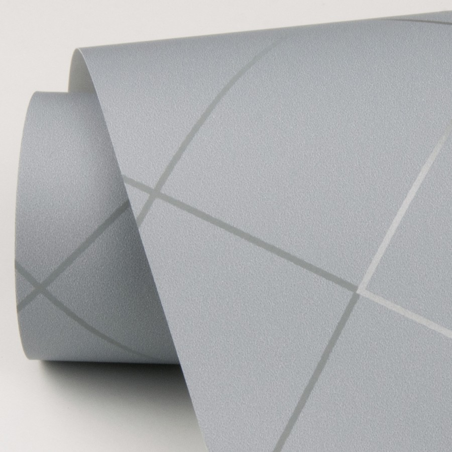 Papel pintado geométrico de líneas metalizadas estilo art deco Hampton 680834