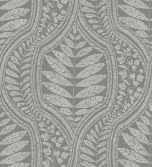 Papel pintado gran damasco con hojas hindú Scandi Palace 680865