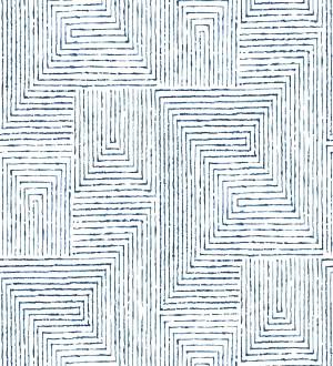 Papel pintado geométrico de laberinto de estilo moderno Wallace Hall 680869