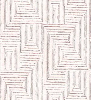 Papel pintado geométrico de laberinto de estilo moderno Wallace Hall 680870