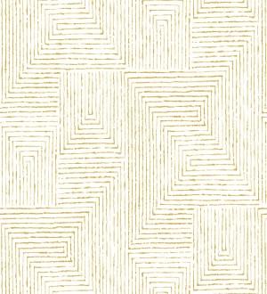 Papel pintado geométrico de laberinto de estilo moderno Wallace Hall 680871