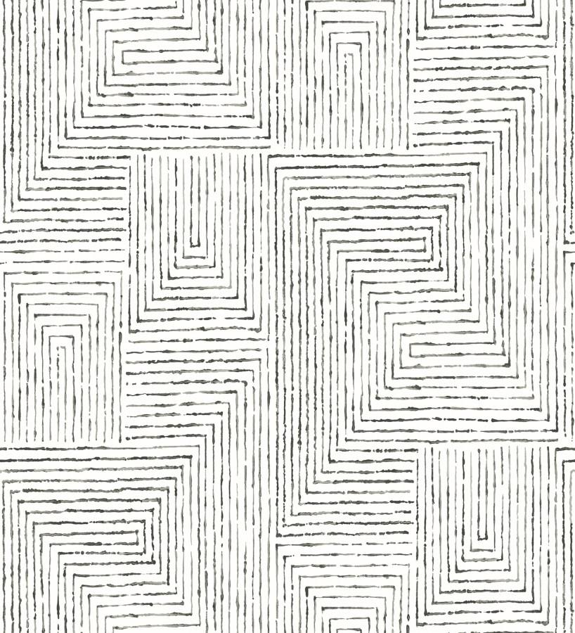 Papel pintado geométrico de laberinto de estilo moderno Wallace Hall 680872